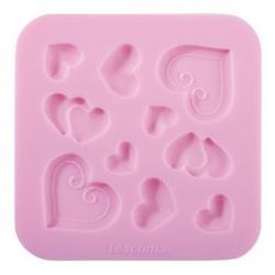 Молд для шоколада и мастики силиконовый Сердечки Delicia Deco, 1