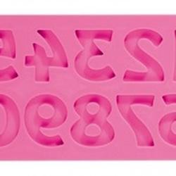Молд для шоколада и мастики силиконовый Цифры ретро Delicia Deco 1