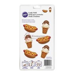 Молд Хот-дог и Мороженое пластик Вилтон 1
