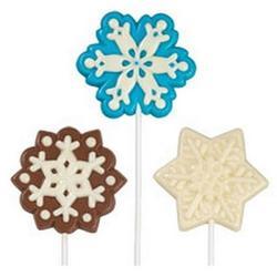 Молд для шоколада/мастики и карамели Снежинки большие Wilton, 1