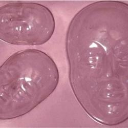 Молд Лица 11,5х9 см. 3 размера пластик 1