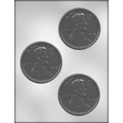 Форма для конфет монетка Пенни Линкольн пластик 1