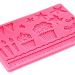 Молд для шоколада/мастики силиконовый Детский, планшет 13х20 см, 1