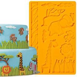 Молд для шоколада/мастики силиконовый Джунгли Wilton, планшет 13х20 см., 1