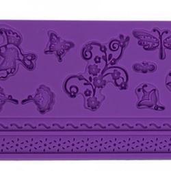 Молд для шоколада/мастики силиконовый Флора и фауна, планшет 13х20 см., 1