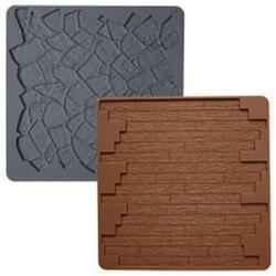 Молд для шоколада/мастики силиконовый Камень/Дерево Wilton, 2 шт., 1