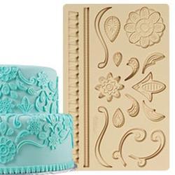 Молд для шоколада/мастики силиконовый Кружево Wilton, планшет 13х20 см., 1