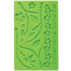 Молд для шоколада/мастики силиконовый Природа Wilton, планшет 13х20 см., 1