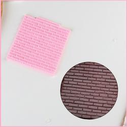 Молд силиконовый Кирпичная стена 10х10см. 1