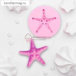 Молд силиконовый Морская звезда 7,5 см. 1