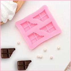 Молд силиконовый Плитка шоколада 7х6 см. 1