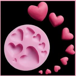 Молд силиконовый Сердечки 7,5 см. 1