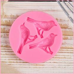 Молд силиконовый Три птицы 6,5 см. 1