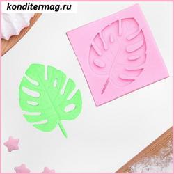 Молд силиконовый Тропический лист 6,5 см. 1
