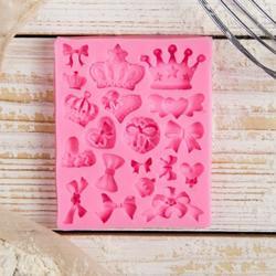 Молд силиконовый Банты и короны 9х7,2 см. 1