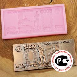 Молд силиконовый Купюра 5000 1