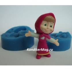 Молд силиконовый Маша 3D двойной 3,5 см. 1