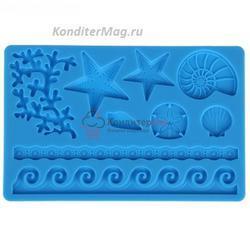 Молд силиконовый планшет Морская  Жизнь 1