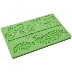 Молд силиконовый планшет Папоротник 20х13 см. 1