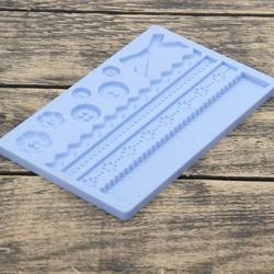 Молд силиконовый планшет Пуговицы 20х12 см. 1