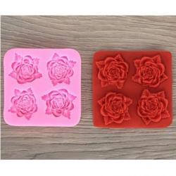 Молд силиконовый Четыре розы 8х8 см. 1