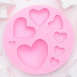 Молд силиконовый Сердца 7,5 см. 1