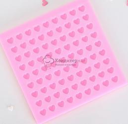 Молд силиконовый Сердца конфетти 11х0,7 см. 1