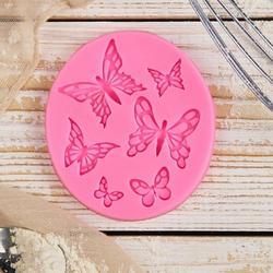 Молд силиконовый Бабочки 6 шт. 8,4х7,3 см. 1