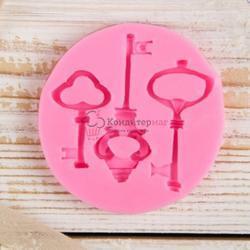 Молд силиконовый Три ключа 7,5 см. 1