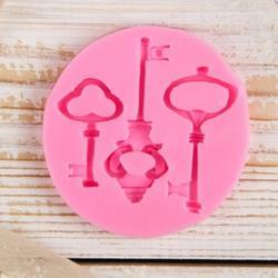 Молд силиконовый Три ключа 6,5 см. 1