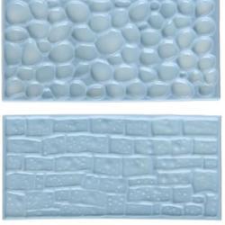 Молд для мастики Кирпичи и булыжники 2 шт. пластик 1