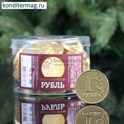 Монета шоколадная 1 рубль 6 г. Монетный Двор 1