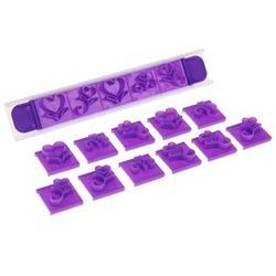 Выемка-штамп для торта Цветочные узоры 19 шт. 1