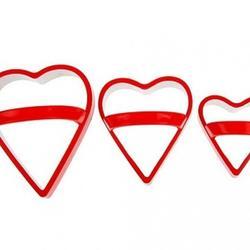 Формочка для печенья Сердце с ручкой 3 шт. металл 3