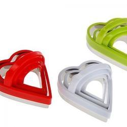 Формочка для печенья Сердце с ручкой 3 шт. металл 2