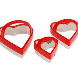 Формочка для печенья Сердце с ручкой 3 шт. металл 1
