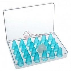 Насадки кондитерские 24 шт. d-1,5 см. Лед пластик в кейсе 1