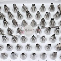 Набор кондитерских насадок 52 шт. в кейсе переходник, 2  гвоздика металл 1