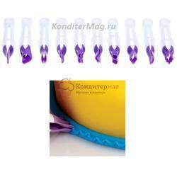 Набор щипцов для мастики и марципана Гладкие узкие 10 шт. 1