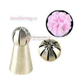 Насадка кондитерская Сфера с цветком 3 см. 2