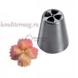 Насадка кондитерская Цветок 4 лепестка  4 см. 1