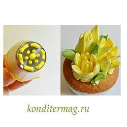 Насадка кондитерская Тюльпан открытый 4 см. 1