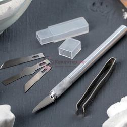 Нож кондитерский для моделирования и украшения, 4 лезвия, пинцет 1