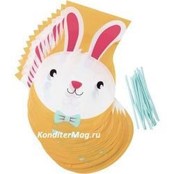 Пакет для сладостей Пасхальный кролик + завязки 30 предм. 3