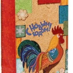 Пакет подарочный без ручек Петушок 10х19 см. бумага 2