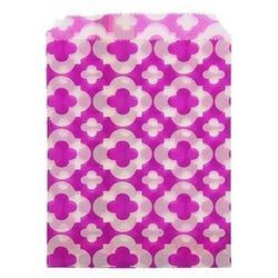 Пакет подарочный без ручек Узор фиолетовый 13х18 см. 10 шт. бумага 1