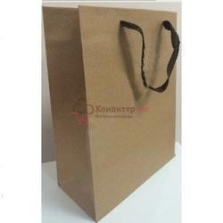 Пакет подарочный бумажный Крафт 23х18 см. 1
