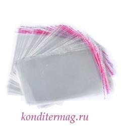Пакет прозрачный 23х31 см. со скотчем 10 шт. 1