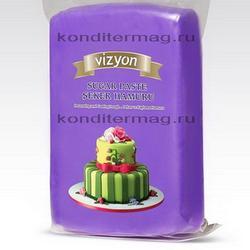 Мастика сахарная Полен фиолетовая темная 1 кг. 1