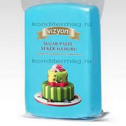 Мастика сахарная Полен голубая 1 кг. 1